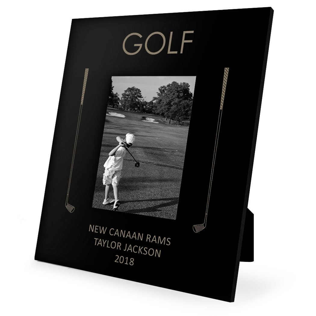 Personalized Golf Frame | Engraved Golf Picture Frame by ChalkTalk Sports | Vertical 5X7