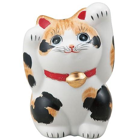 Ambas manos del gato de la suerte japonés gato pote de cerámica