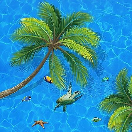 Mbwlkj Papier peint Coco De Mer 3D Peinture Décorative Sol ...
