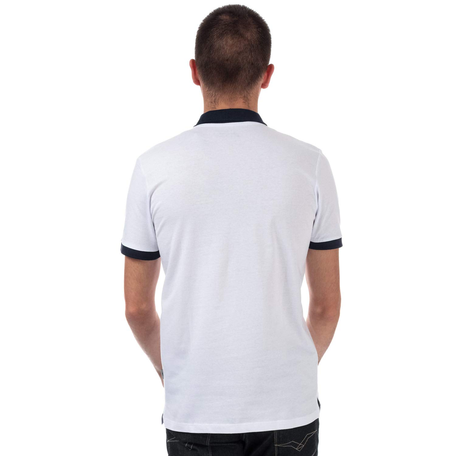 JACK & JONES Tony - Polo de Manga Corta para Hombre, Color Blanco ...