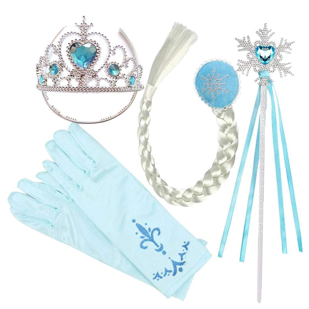Dress Up Accessoires Set, Filles Princesse Dress Up Accessoires, Enfants Princesse Tiara Crown Set Filles Dress Up Party Accessoires