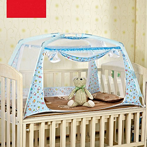 Baby-Kids-Crib-Cot-Mosquito-Net-Tent-Bed-Canopy-with-Stand-S-L