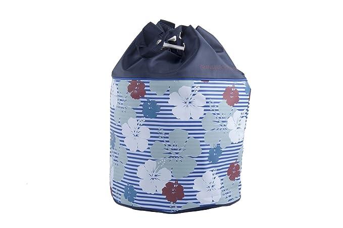 Borsa mare piscina donna GIANMARCO VENTURI blu sacca zaino a spalla VV32 9a43c7698c2
