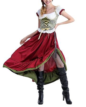 Online kaufen hübsch und bunt Offizielle Website Karnevalskostüme Damen Dienstmädchen Kostüm Einteiliges ...