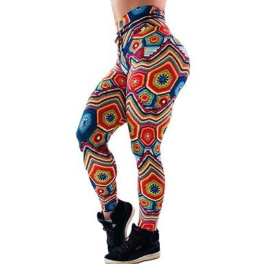 Leggings Deporte Mujer Cintura Alta Chandal Yoga Running Hip Hop ...