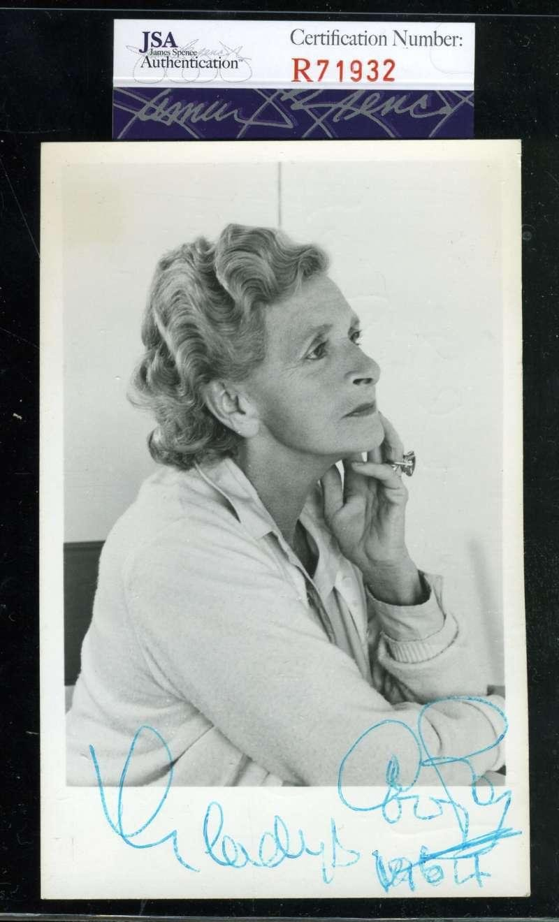 Gladys Cooper D 71 Coa Hand Signed My Fair Lady Photo