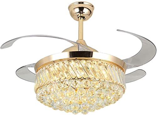 Lighting Groups 42″ Retractable Reversible Ceiling Fan Chandelier