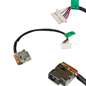 CAQL DC Power Jack Harness Cable for HP Stream 11-D010NR 11-D020NR 11-D050NR 11-D077NR 11-D001DX 11-D010CA 11-D010WM 11-D016NS 778634-TD1 Port