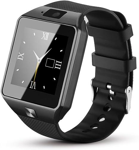 Fantime Relojes Inteligentes Smartwatches Bluetooth Soporte SIM y la Tarjeta del TF para Samsung S5 / Nota 2/3/4, Nexus 6, HTC, Sony y Otros Teléfonos Inteligentes Android: Amazon.es: Amazon.es