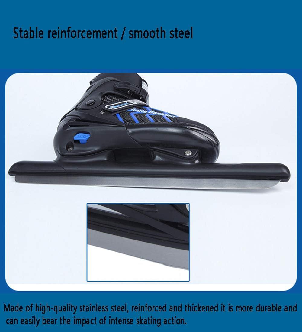 Professional Warm Skating Skates Waterproof Speed Skating Adult Lining and Reinforced Ankle Support Adjustable Code Skate Shoes Adjustable Skates