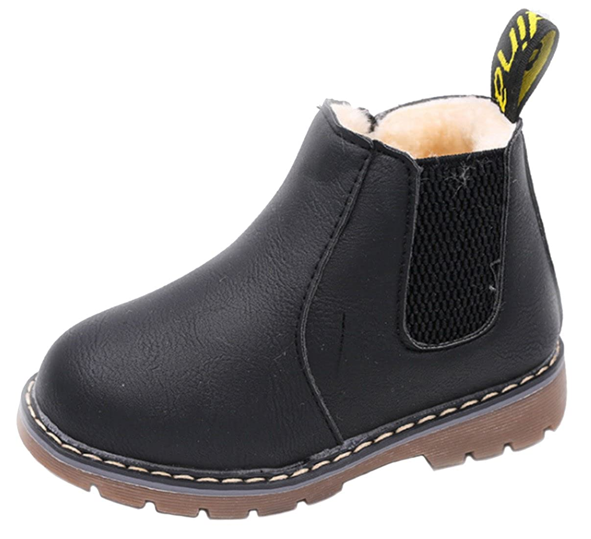 DADAWEN Baby's Boy's Girl's Casual Waterproof Side Zipper Ankle Boots (Toddler/Little Kid/Big Kid) 10067HM