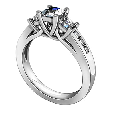 8bc6355c64493 Amazon.com: MoAndy 925 Sterling Silver Ring, Eternity Promise Rings ...