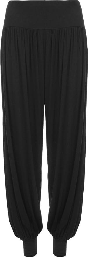 Da Donna Taglie Forti Pantaloni Harem Donna Lunghezza Piena Elasticizzato Pantaloni Casual Formati 12 - 26