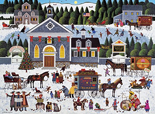Christmas 1000 Piece Puzzle - Buffalo Games - Charles Wysocki - Churchyard Christmas - 1000 Piece Jigsaw Puzzle