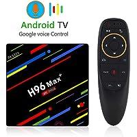 elegantstunning 4G 64GB TV Box H96 Max+ Android 8.1 Smart Tv Box RK3328 Quad-Core 64bit Cortex-A53 Penta-Core Dual WiFi Smart Set Top Box with Remote European regulations