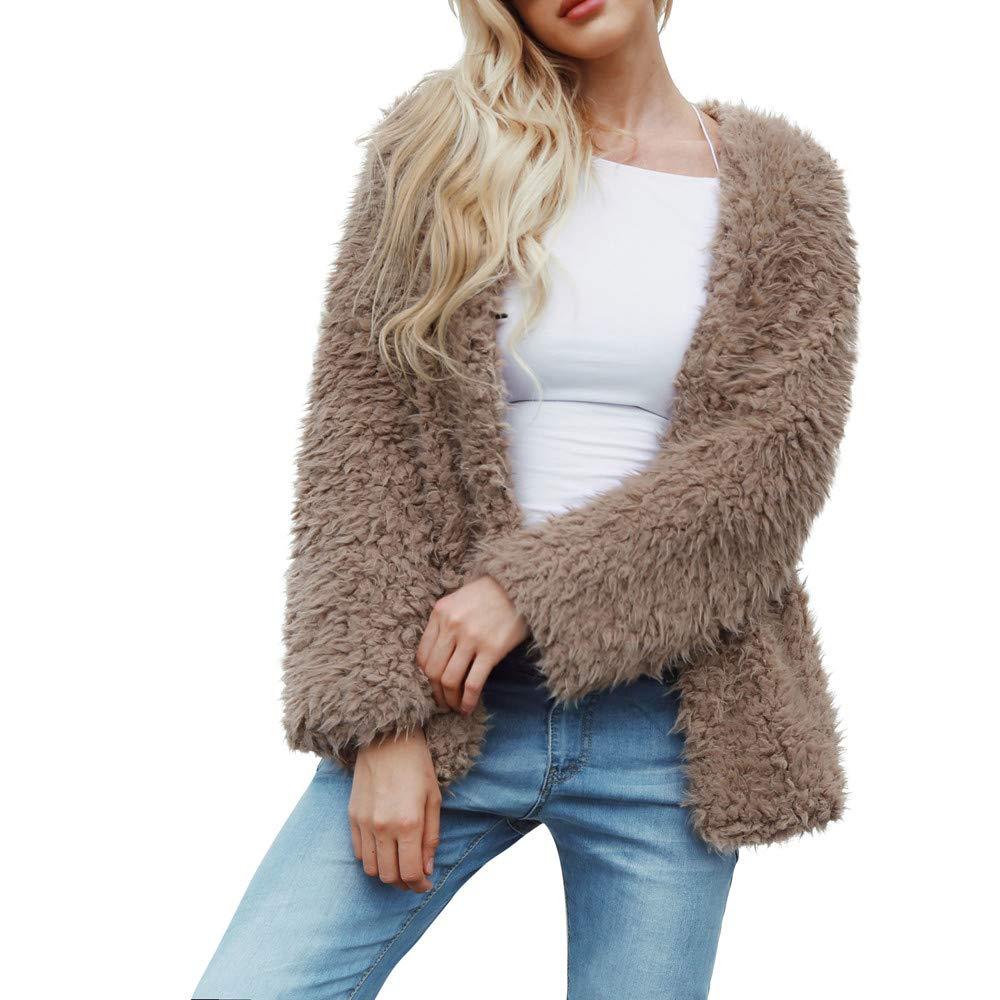 QIQIU ⭐️ Clearance! Women's Short Faux Fur Coat, Ladies Parka Winter Warm Jacket Outwear Tops Overcoat