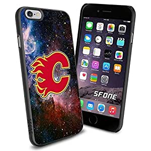 Calgary Flames Nebula WADE1791 Hockey iPhone 6 4.7 inch Case Protection Black Rubber Cover Protector