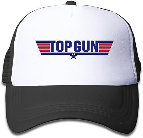 Hittings macthy Top Gun Logo Boy s Mesh Gorra Hat Cap Black ...