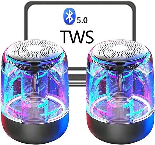 2-Pack TWS verdadera Wireless altavoces estéreo, Bluetooth 5.0 ...