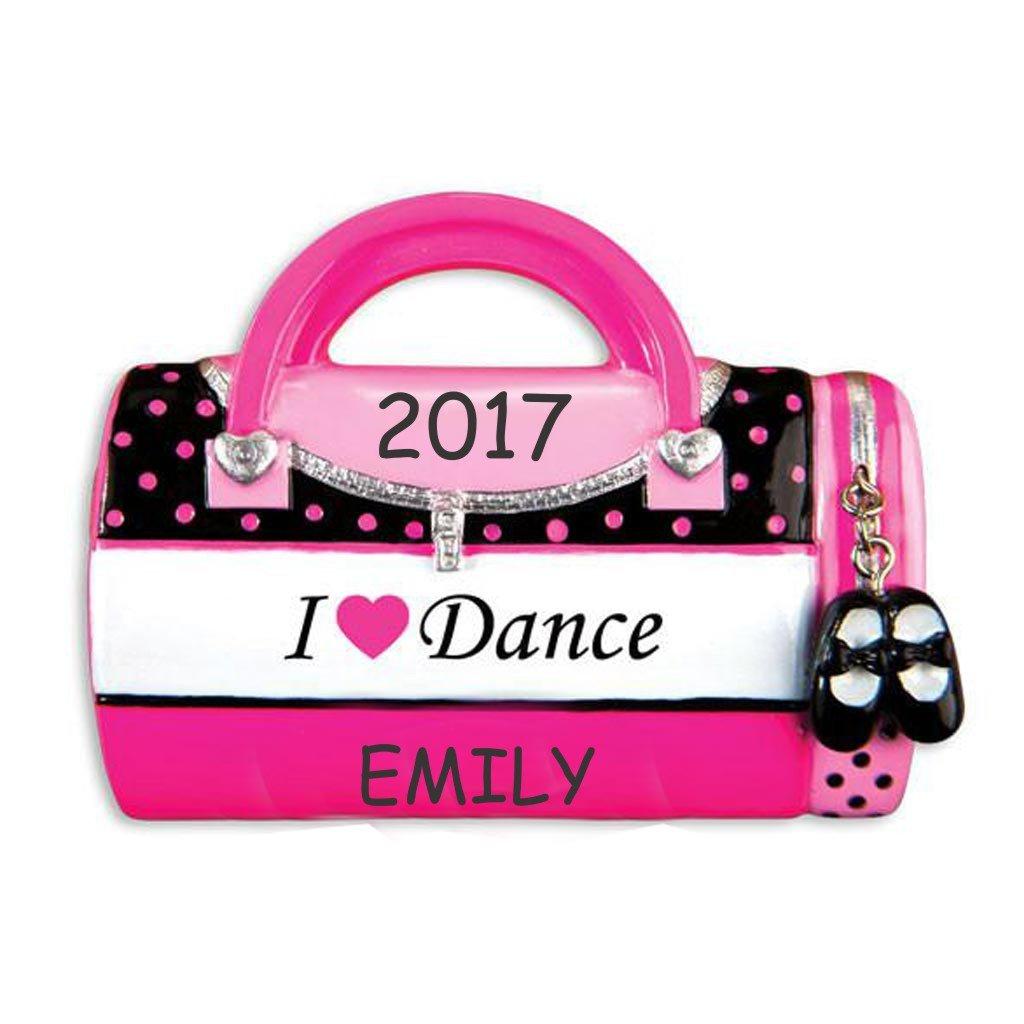 Personalized I Love Kids Bag Christmas Ornament (I Love Dance)