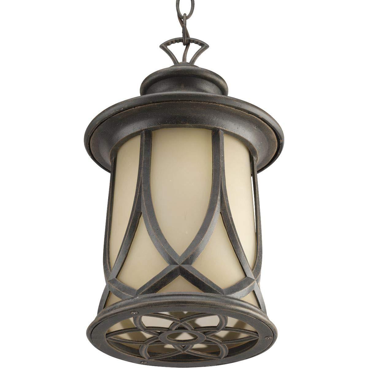 Progress Lighting P6504-122 Resort Collection 1-Light Hanging Lantern, Aged Copper