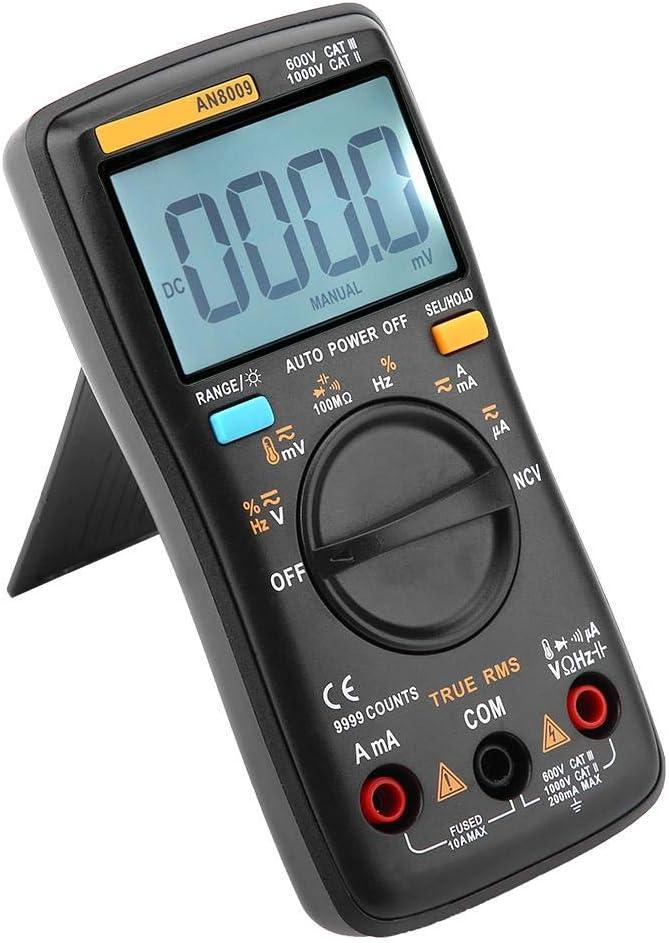 Walfront ANENG AN8009 Multim/ètre num/érique /à port/ée de main AC//DC Tension Courant R/ésistance Diode R/ésistance Cycle Cycle Cycle R/ésistance Multi Testeur