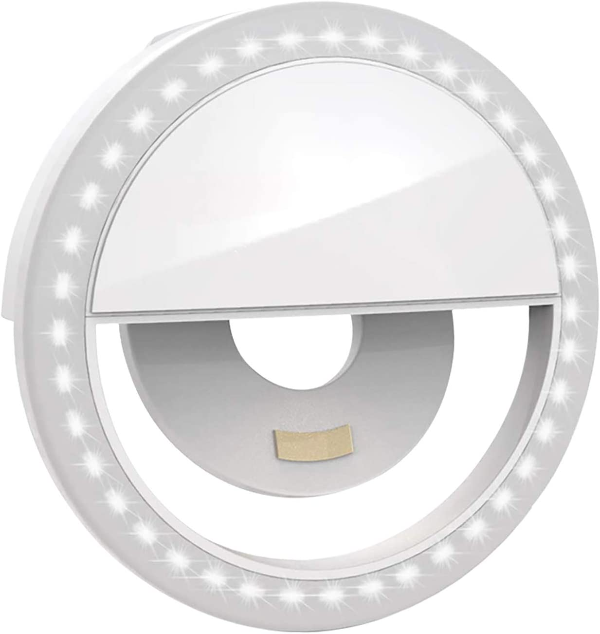 Decosta Tech Ring Light - The Perfect Selfie Ring Light or Lighting for Video Conference Calls - A Clip on Ring Light for Phones and laptops or Tablets