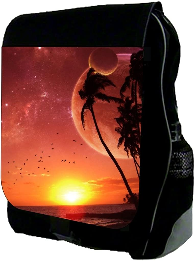 Pink Tropical Beach TM School Backpack