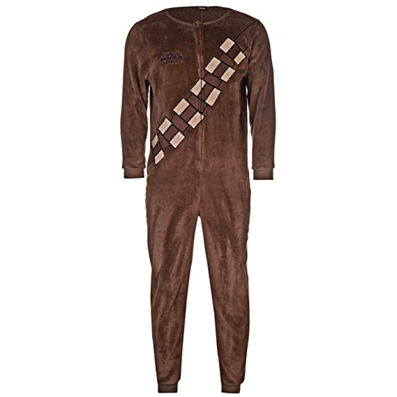 758aa0f36 Star Wars Chewbacca Overall Brown Onesie Size Medium: Amazon.co.uk: Clothing