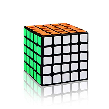 Alician 5 X 5 6.2CM Speed Magic Cube Toy for Professional Game Black
