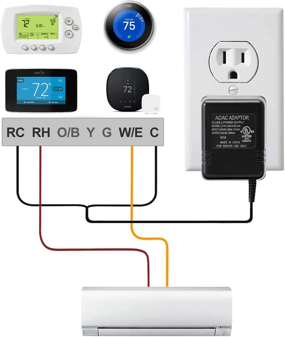Nest Thermostat E Wiring Diagram 2 Wire from images-na.ssl-images-amazon.com