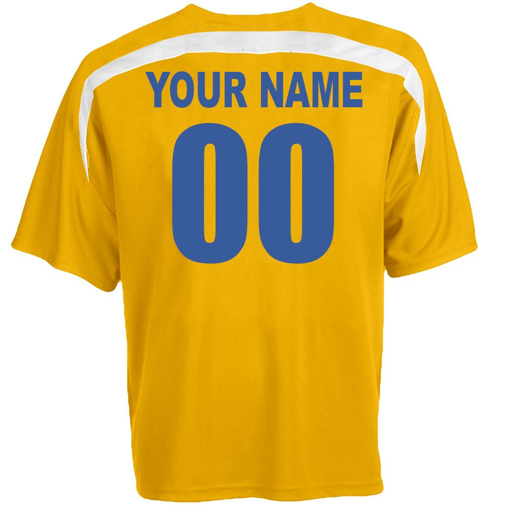 Amazon Custom Sweden Soccer Jersey Personalized With Your Names
