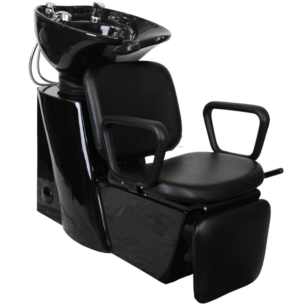 Premium Square Arms Shampoo Backwash Unit w/ Leg Rest Salon Equipment SU-95