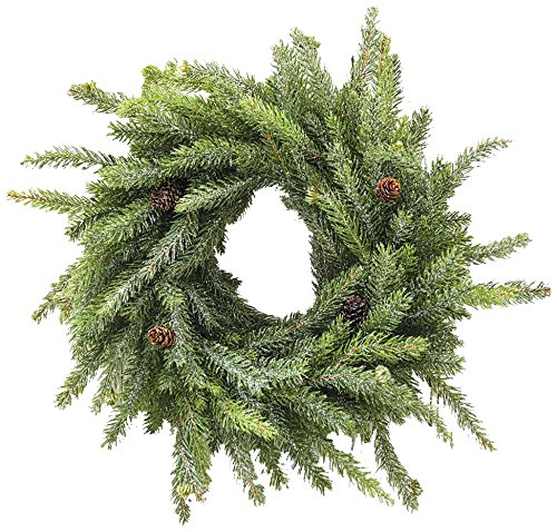 CWI Gifts Artificial Frosted White Spruce Wreath, Multi