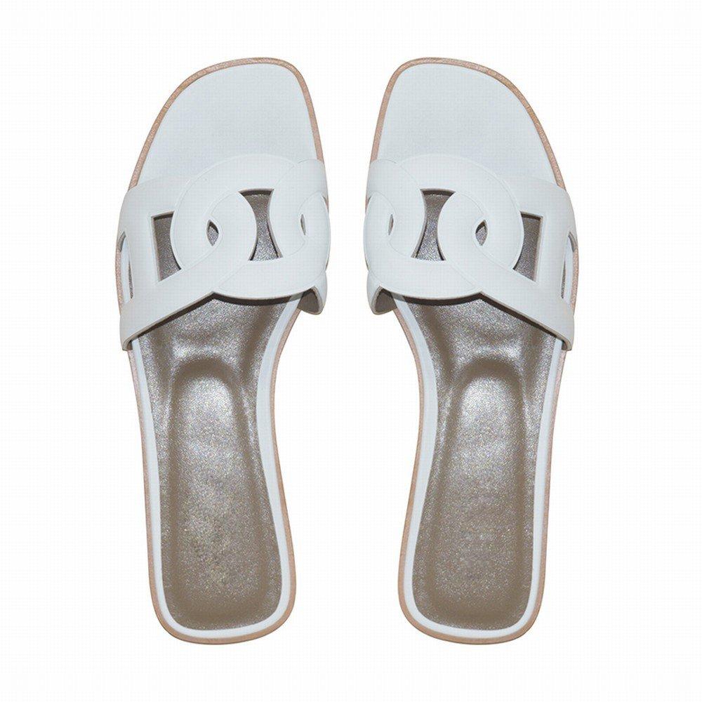 DHG Pantofole Pantofole Pantofole piatte estive,bianca,35 estive,bianca,35 0ebad2   9be4d3