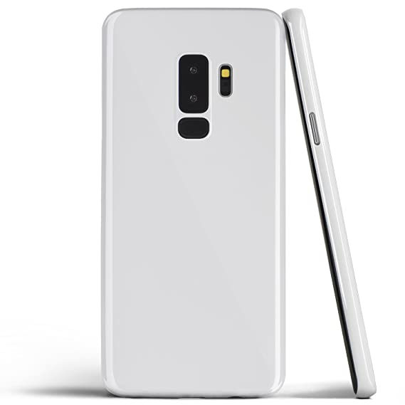 the latest b158f 586e7 totallee Galaxy S9 Plus Case, Thinnest Cover Premium Ultra Thin Light Slim  Minimal Anti-Scratch Protective - for Samsung Galaxy S9 Plus (Jet White)