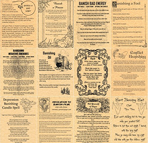 set-of-12-banishing-book-of-shadows-spells-pages-wicca-witchcraft-like-charmed-gold