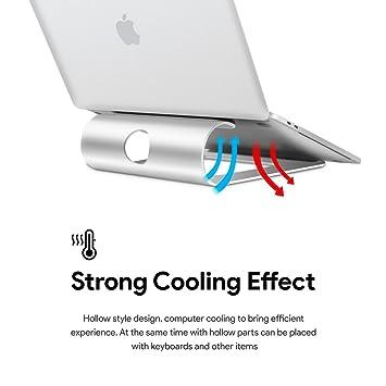 "SAUSIRE Soporte universal para ordenador portátil de aluminio plateado (11 ""~ 15"""