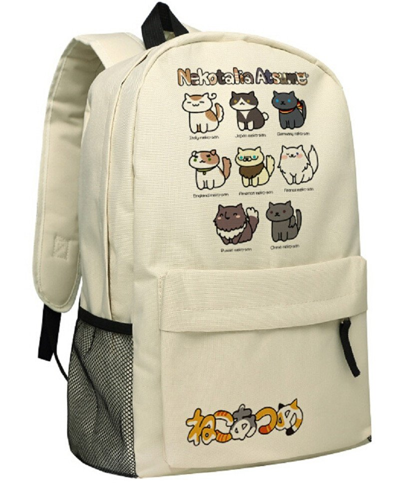 Siawasey Neko Atsumeアニメ猫裏庭コスプレブックバッグDaypack Collegeバックパックスクールバッグ   B072R23Z1R