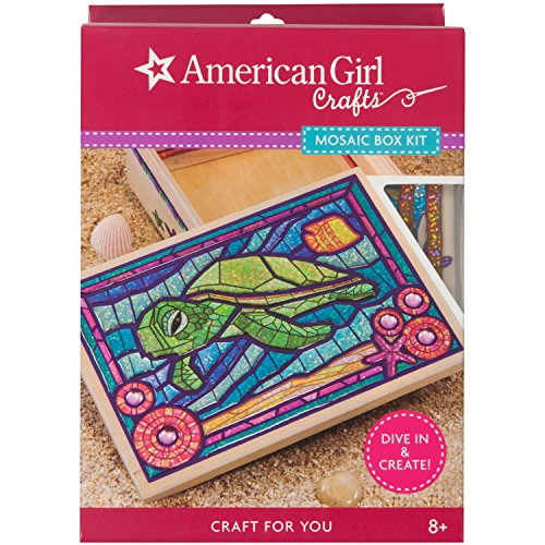 American Girl Crafts Turtle Mosaic Box Kit, 6.5'' x 3'' x 9.5'' -