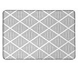 Grey personalized mouse pad Digital Geometric Volumetric Diamond Form with Dynamic Dashed Effects Web Lines Image Printdrawing mouse pad White