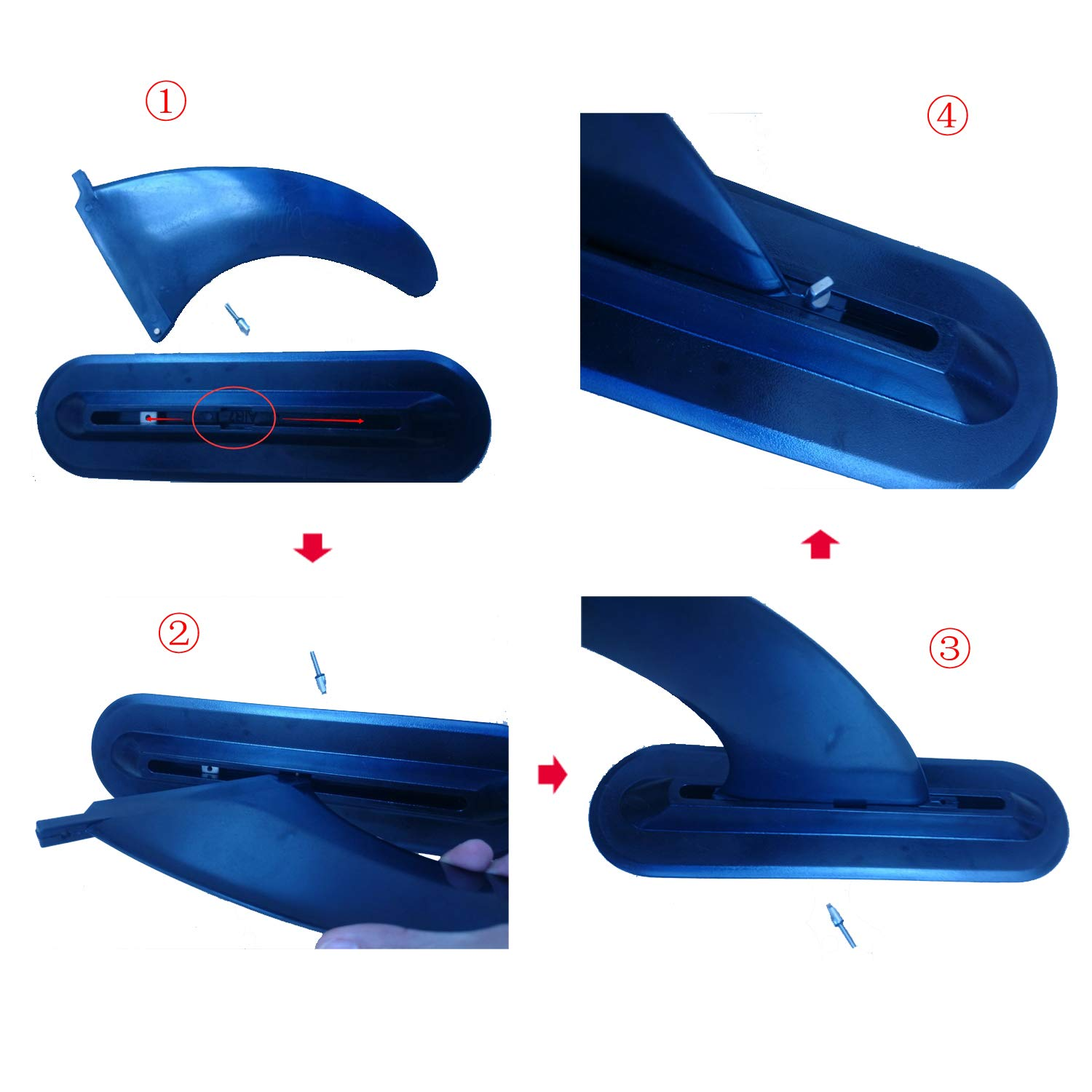 Fin for Surfboard /& Stand Up PaddleBoards by Bright Blue