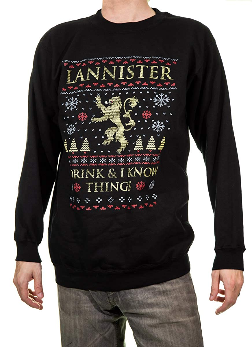 Calhoun Game of Thrones Ugly Christmas Unisex Holiday Crew Neck Sweater