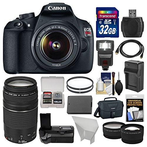 Canon EOS Rebel T5 Digital SLR Camera & EF-S 18-55mm IS II &
