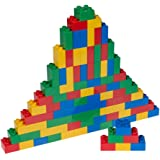 Classic Big Briks by Strictly Briks | Building Brick Set 100% Compatible with All Major Brands | Large Pegs for Toddlers | Ages 3+ | Premium Building Bricks in Basic Colors | 84 Pieces