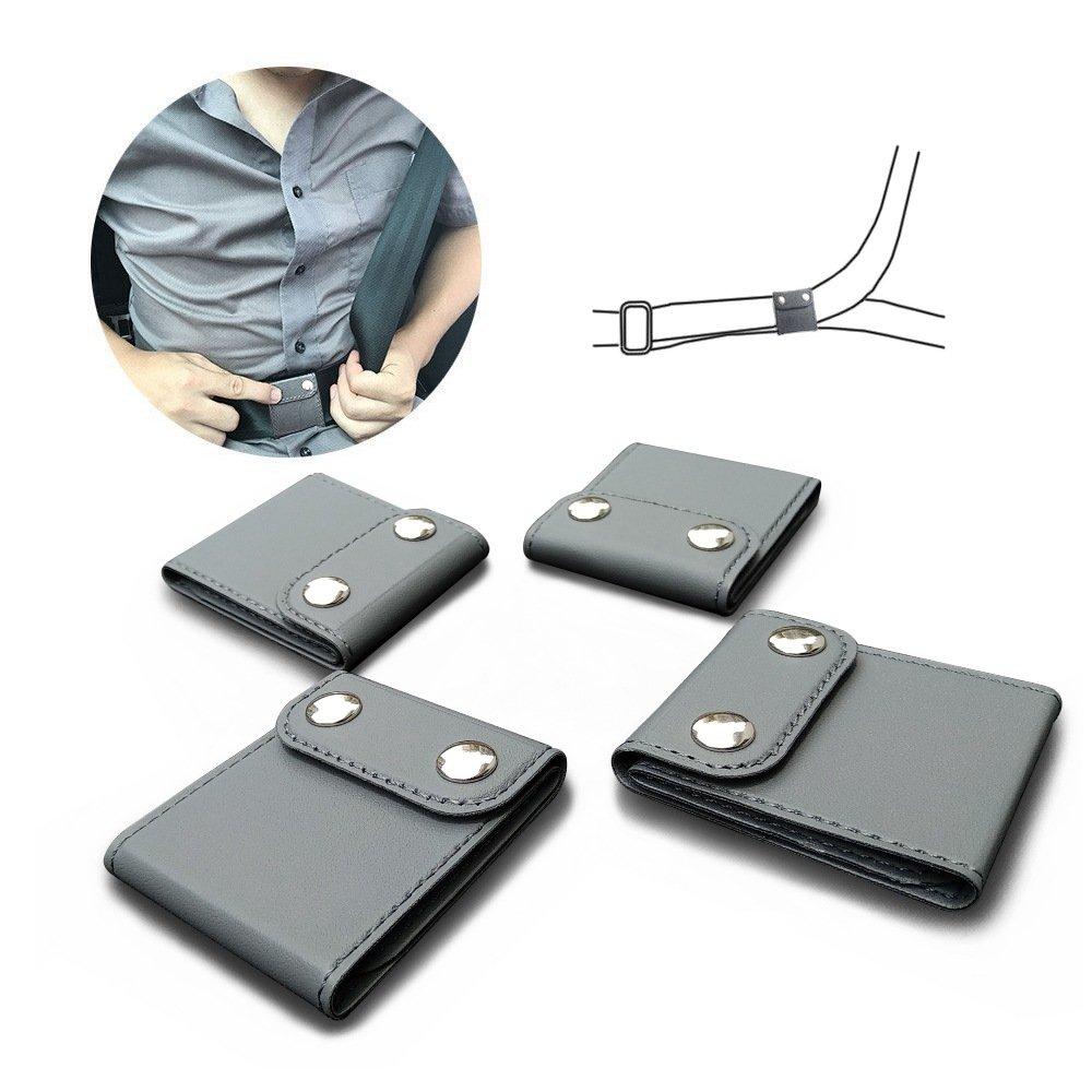 Seatbelt Adjuster, ILIVABLE Comfort Universal Auto Shoulder Neck Strap Positioner, Vehicle Car Seat Belt Covers (4 Pack, Gray)
