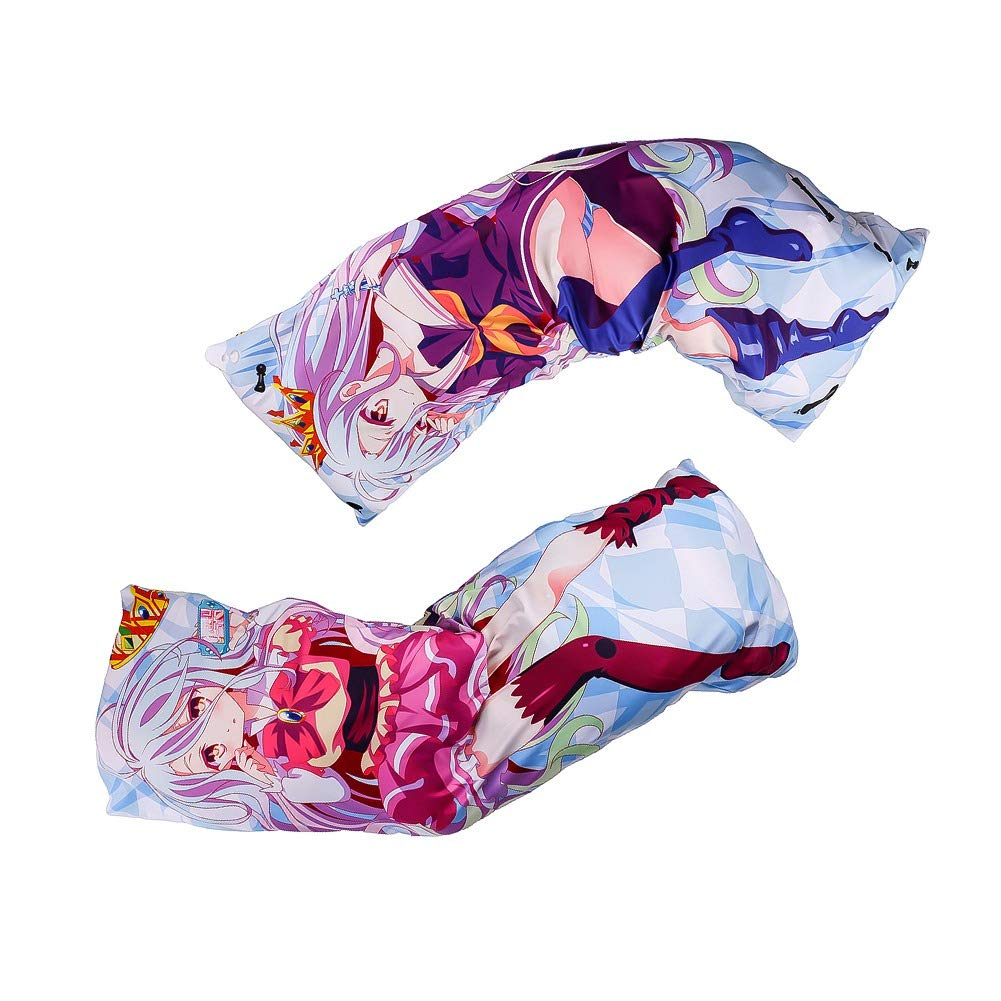 Double-Sided Pattern Rem Body Pillowcase Long Hugging Body Pillowcase Best for Anime Fans 150cm x 50cm Lavendei Anime NO GAME NO LIFE Throw Pillowcase Material: 2 Way