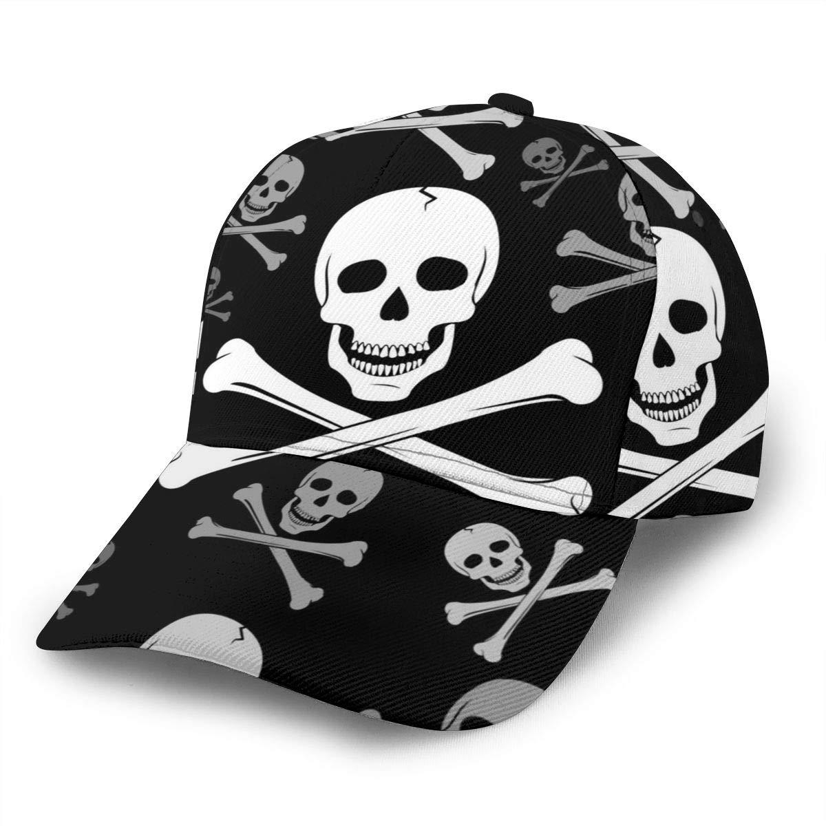 Kunming~ White Skull Girl Washed Denim Cotton Baseball Cap Sport Outdoor Adjustable Hats