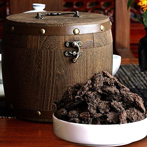 China Tea Yunnan Pu'er tea, Chang Yun old tea, head cooked tea, 600g gift box, wooden pail, post ()