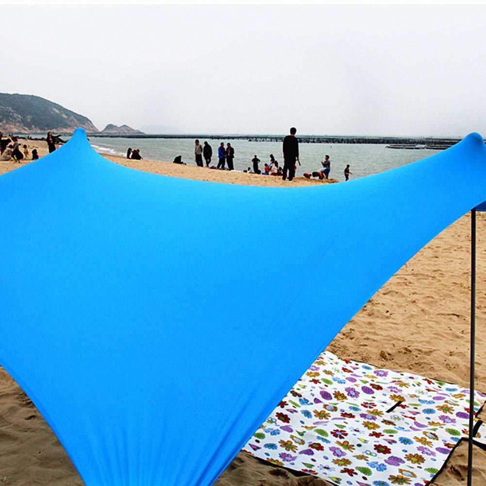 Tienda Ligera para sombrillas con Anclajes para Bolsas de Arena. Kapokilly Parasol de Playa Familiar